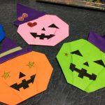 ハロウィンリース 折り紙